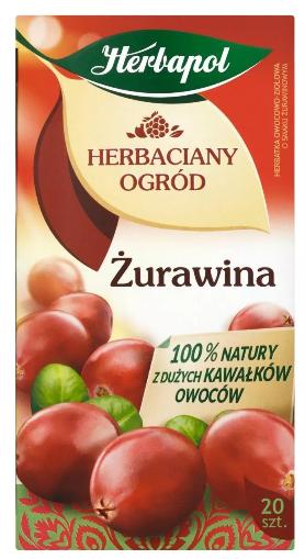 Herbata owocowa Herbapol Lublin 20 saszetek Ogród Żurawina