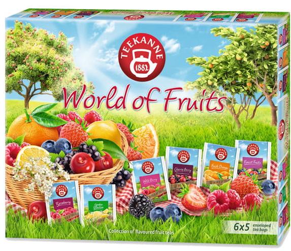 Herbata owocowa Teekanne Zestaw 6X5Szt World Of Fruits Collection